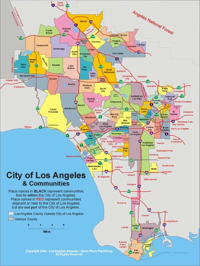 LOS ANGELES MAP | New Hd Template İmages